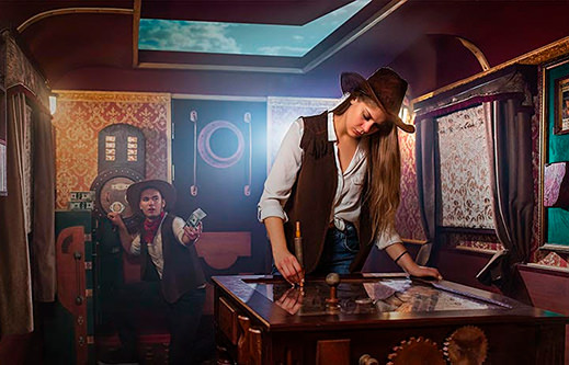 INDESTROOM ESCAPE ROOMS CONSTRUCTION COMPANY STEAM PUNK TRAIN