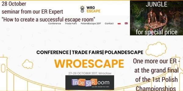Great news! 27-29 October we will be at First in Poland Conference with our escape rooms!