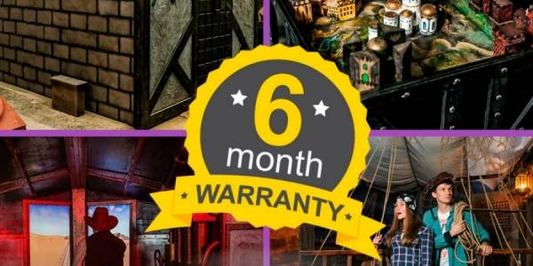 Good news! Extend the warranty for our turn-key Escape Rooms from 3 to 6 mounts